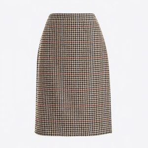 J. Crew Factory Pencil Skirt in Houndstooth